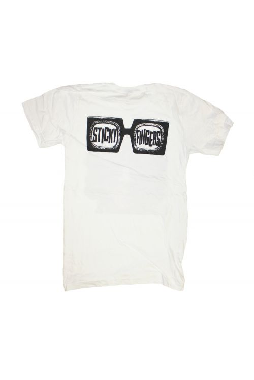 Dylan Shades White Tshirt by Sticky Fingers