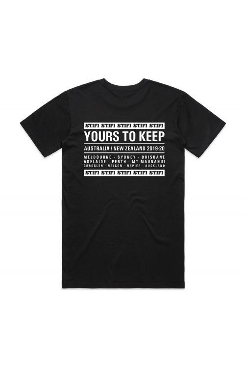 Yours To Keep World Tour Black Tshirt by Sticky Fingers